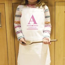 Girls Initial Kids Apron